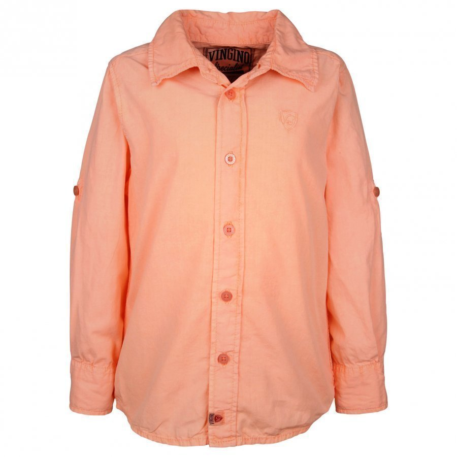 Vingino Leon Ls Shirt Neon Orange Kauluspaita