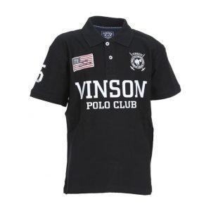 Vinson Polo Club Favrex Jr Pikeepaita Musta
