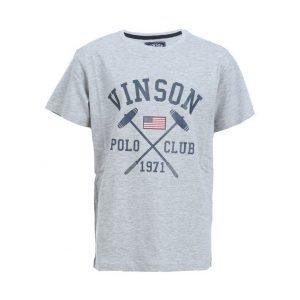 Vinson Polo Club Franco Jr Urheilullinen T-paita Harmaa