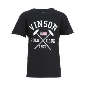 Vinson Polo Club Franco Jr Urheilullinen T-paita Musta