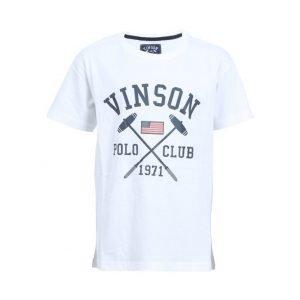 Vinson Polo Club Franco Jr Urheilullinen T-paita Valkoinen