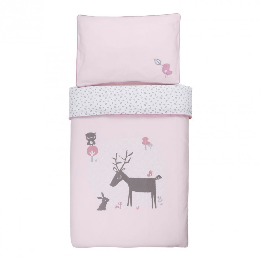 Vinter & Bloom Forest Friends Bedset Cot Blossom Pussilakanasetti