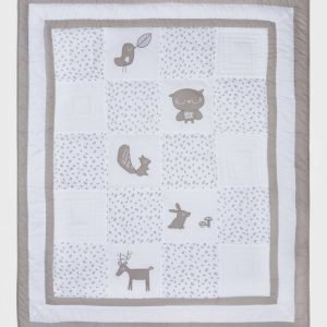 Vinter & Bloom Forest Friends Playmat/Duvet Grey Leaf Vuodesetti