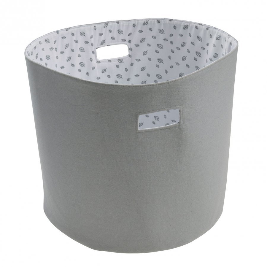Vinter & Bloom Forest Friends Storage Basket Grey Leaf Säilytyskori