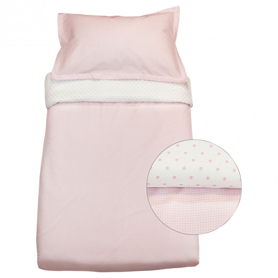 Vinter & Bloom Gingham Bassinet Bed Set Pink Rose Vuodesetti