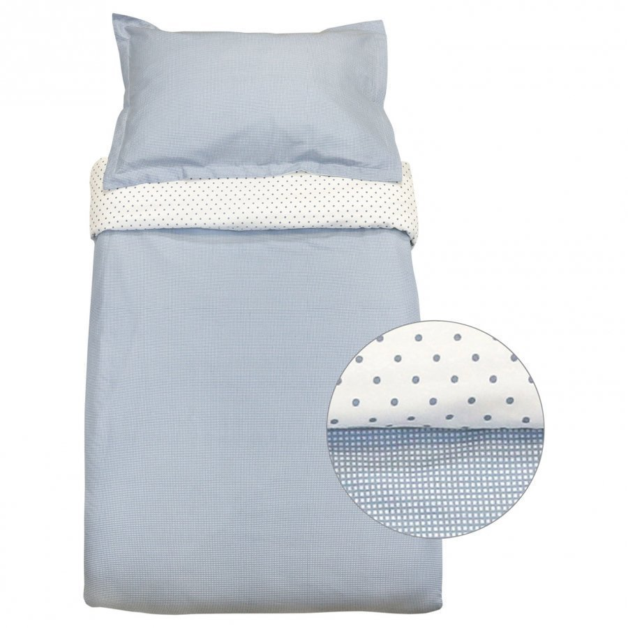 Vinter & Bloom Gingham Bassinet Bed Set Placid Blue Pussilakanasetti