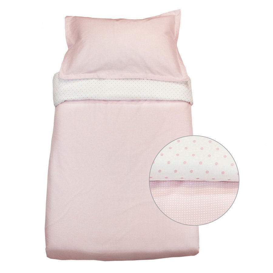 Vinter & Bloom Gingham Crib Bed Set Pink Rose Pussilakanasetti