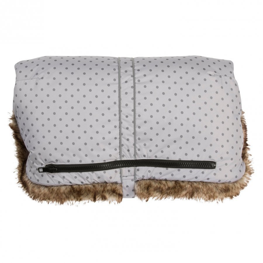 Vinter & Bloom Handmuff Mini Dots Silver Grey Kädenlämmitin