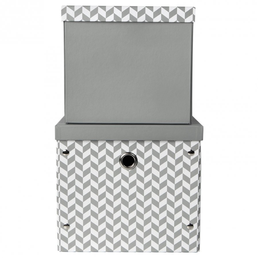 Vinter & Bloom Herringbone Säilytyslaatikot Charcoal Grey Säilytyslaatikko