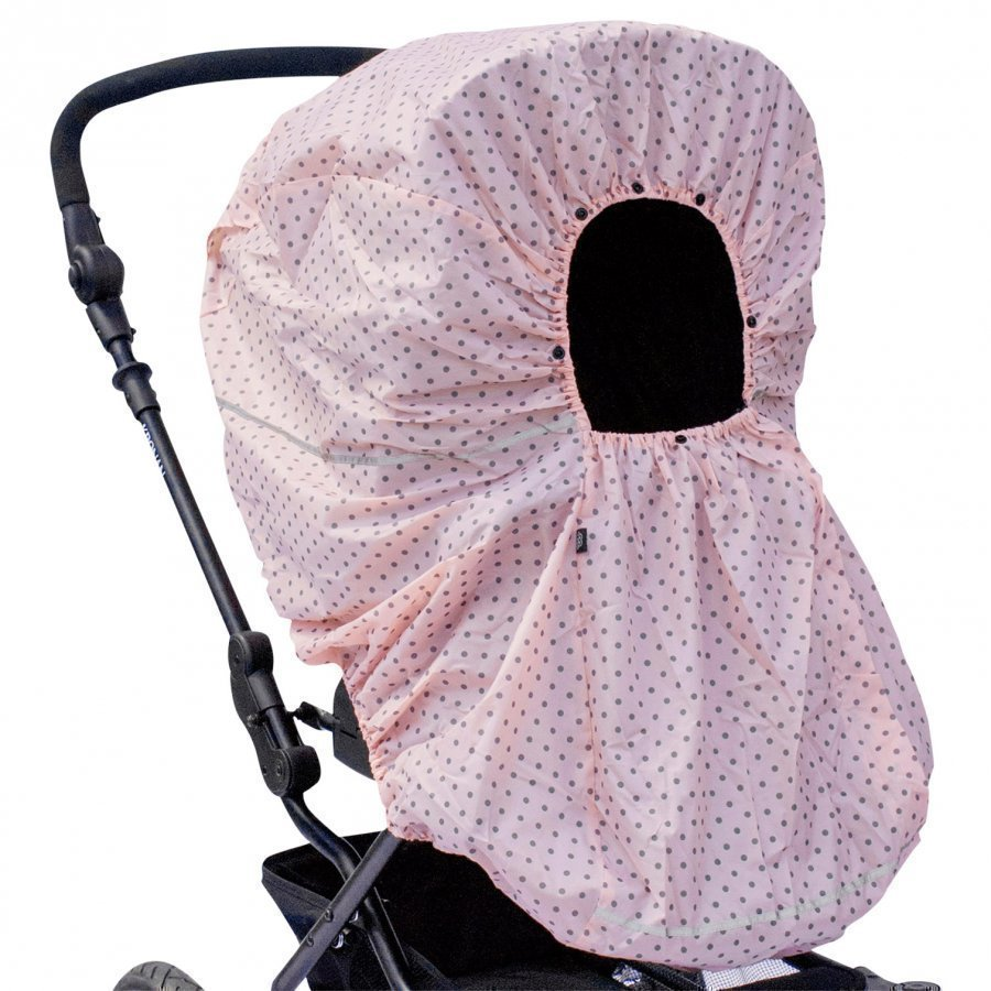 Vinter & Bloom Rain Cover Mini Dots Cotton Candy Sadesuoja
