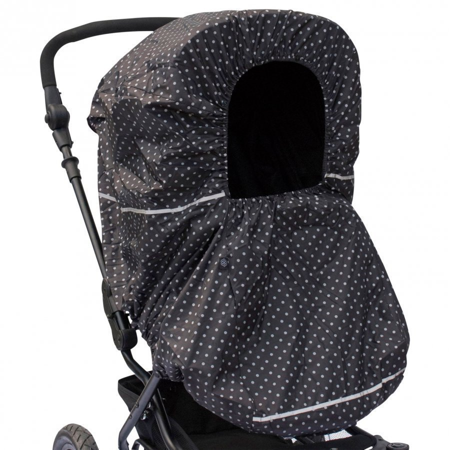 Vinter & Bloom Rain Cover Mini Dots Ebony Black Sadesuoja