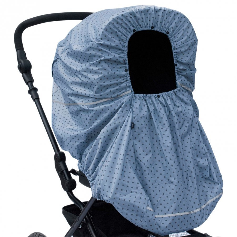 Vinter & Bloom Rain Cover Mini Dots French Blue Sadesuoja