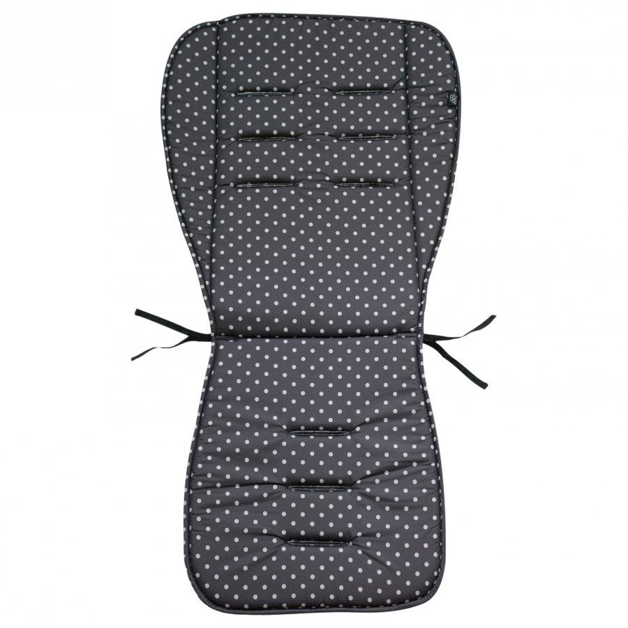 Vinter & Bloom Stroller Cushion Mini Dots Ebony Black Istuintyyny