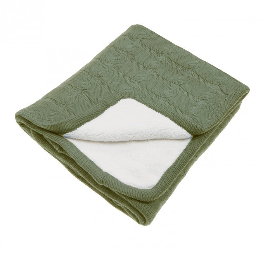 Vinter & Bloom Teddy Blanket Forest Green Huopa