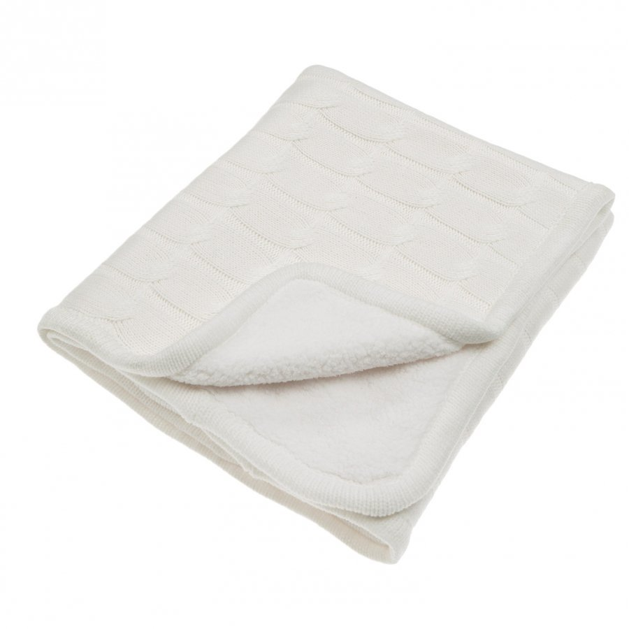 Vinter & Bloom Teddy Blanket Ivory Huopa