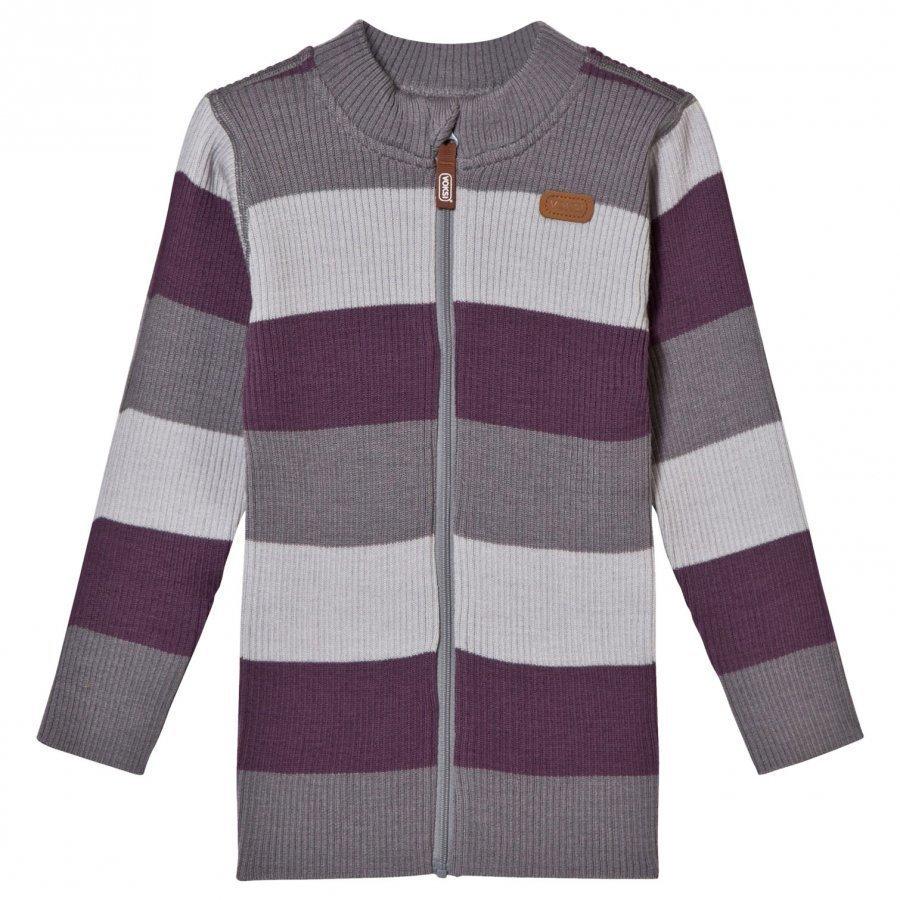 Voksi Wool Rib Jacket Purple Paita