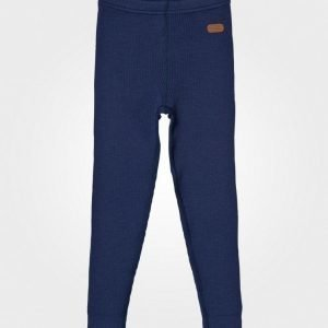 Voksi Wool Rib Long Trouser Petrol Legginsit
