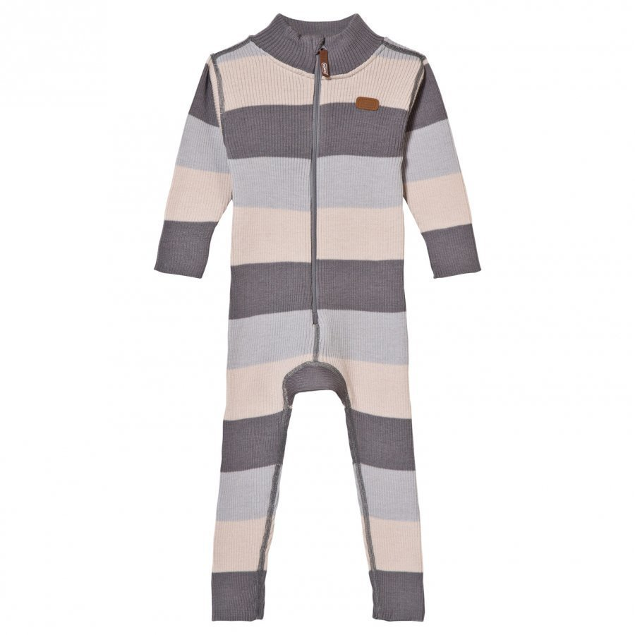 Voksi Wool Rib One-Piece Grey Potkupuku