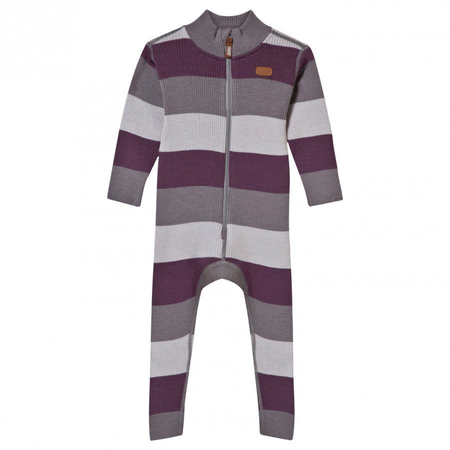 Voksi Wool Rib One-Piece Purple Potkupuku