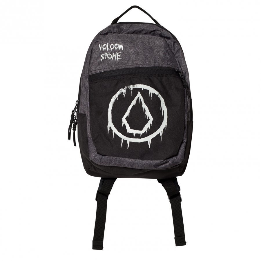 Volcom Black And Grey Branded Backpack Reppu