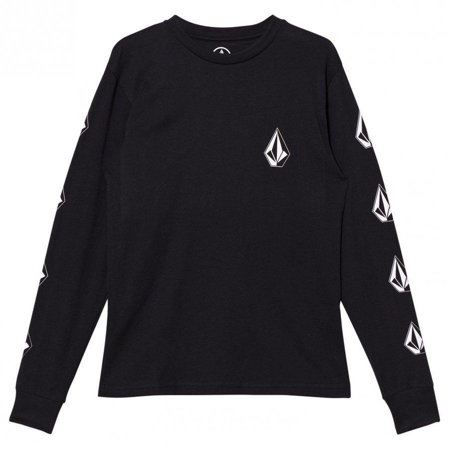Volcom Black Deadly Stone Logo Long Sleeve Tee T-Paita