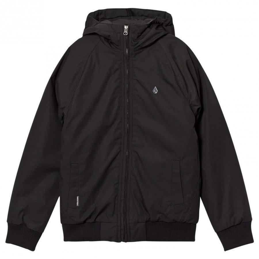 Volcom Black Hernan Hooded Jacket Toppatakki