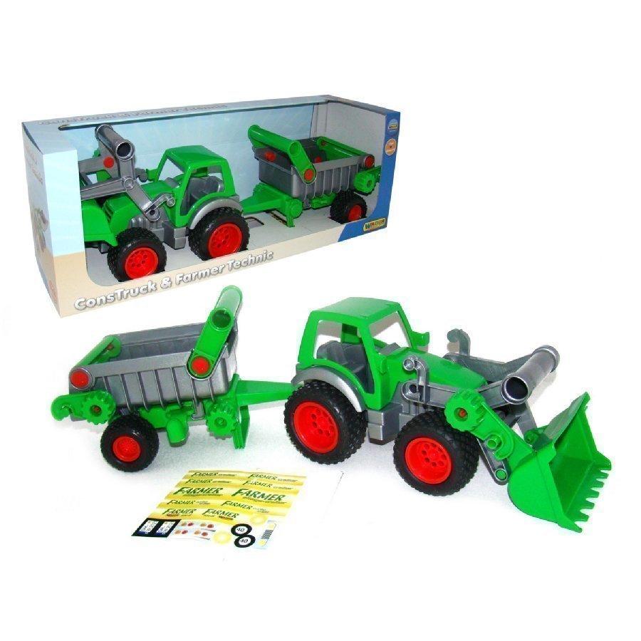 Wader Farmer Technic Traktori Kauhalla Ja Kippiperäkärry