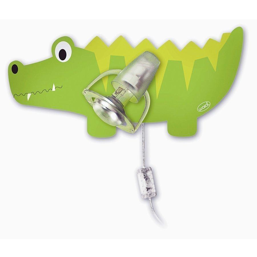 Waldi Seinävalaisin Krokotiili Vihreä
