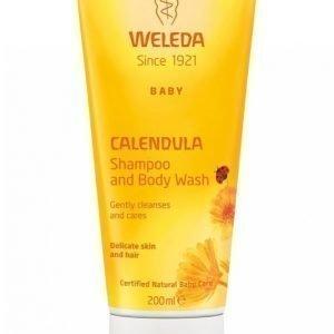 Weleda Schampoo & Body Wash 200 Ml Calendula Shampoo & Suihkuvoide