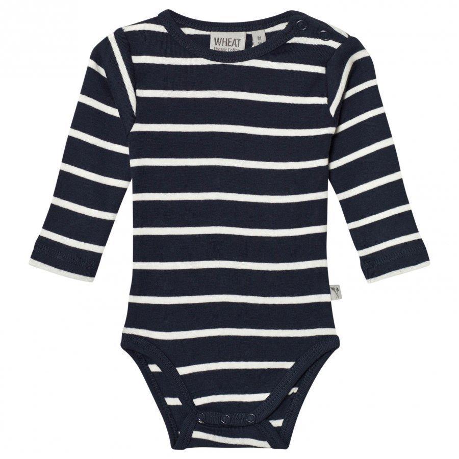 Wheat Baby Body Plain Long Sleeve Navy Body