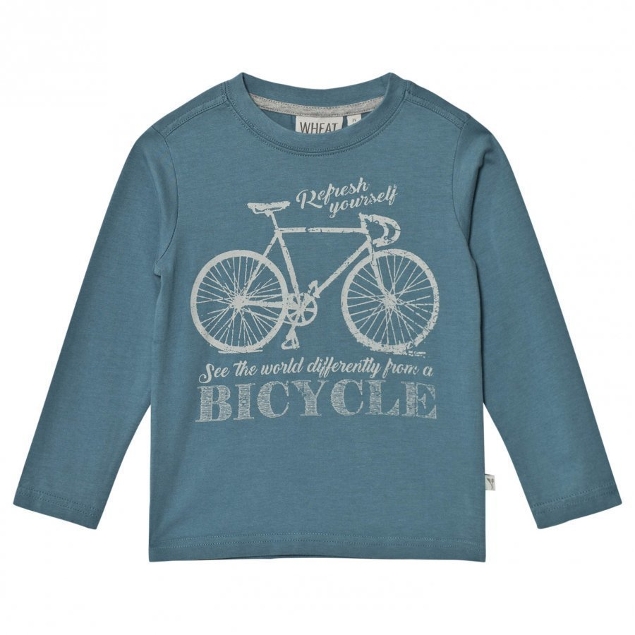 Wheat Bicycle Long Sleeve Tee Bluestone T-Paita