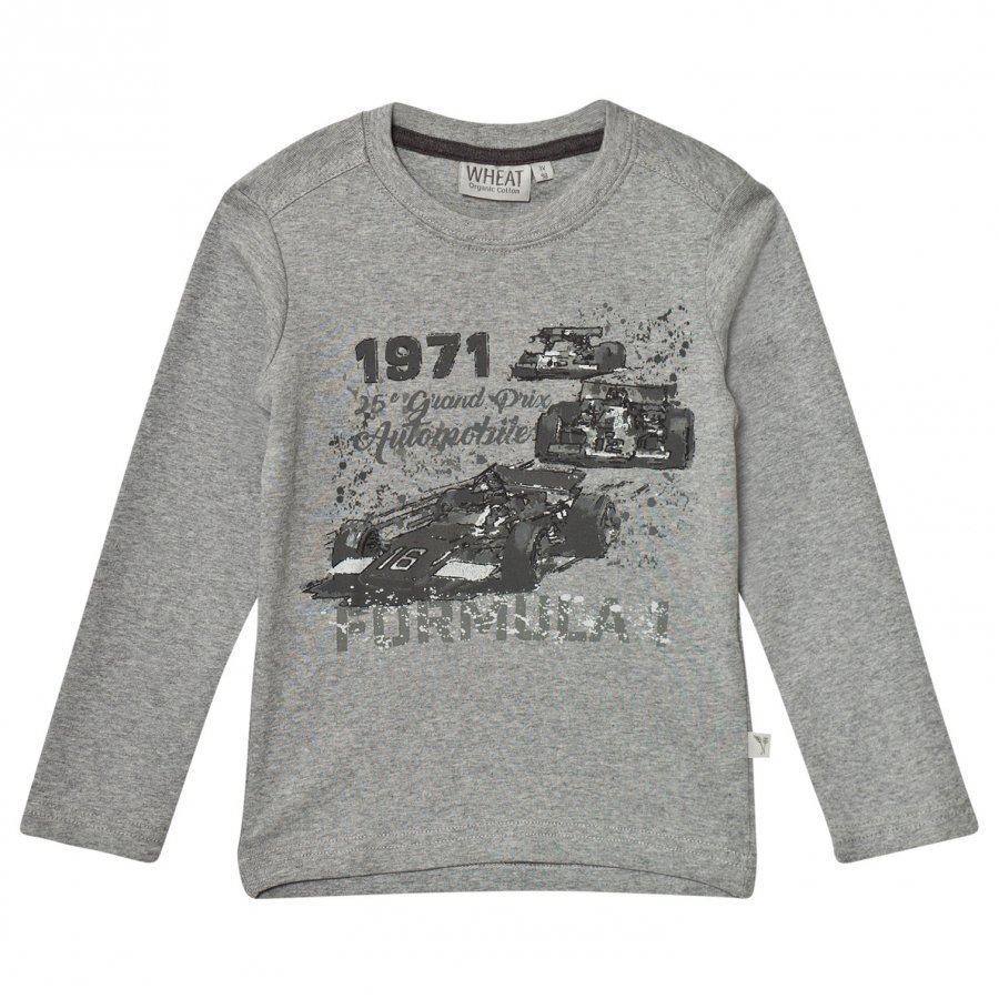Wheat Formula 1 Long Sleeve Tee Melange Grey T-Paita