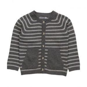Wheat Knit Cardigan Stripe Classic
