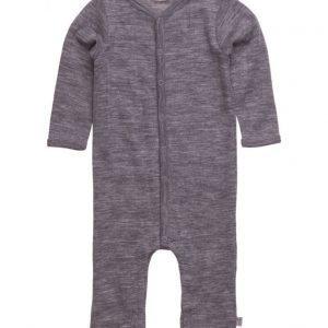 Wheat Plain Wool Jumpsuit