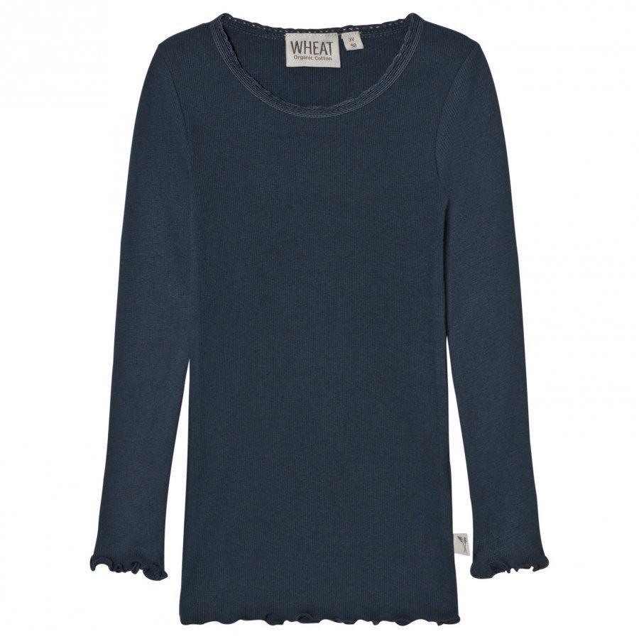 Wheat Rib T-Shirt Lace Midnight Navy T-Paita