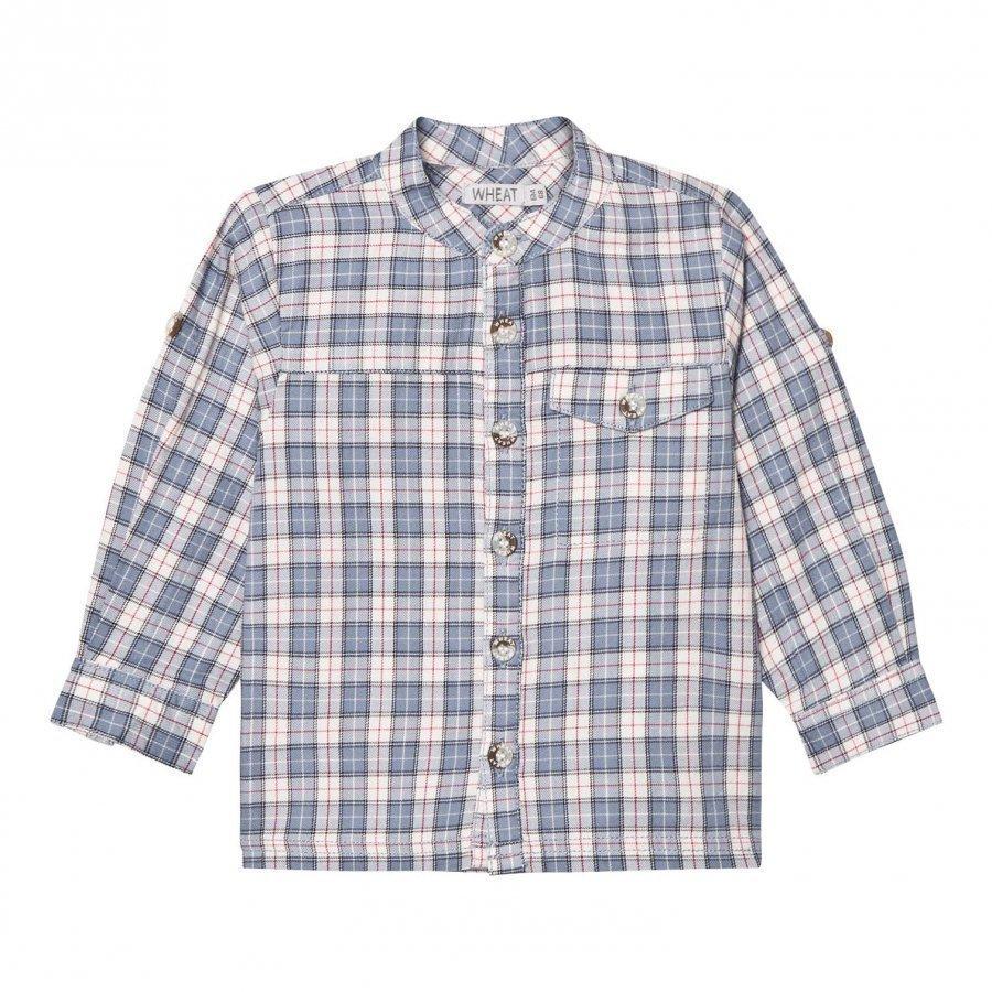 Wheat Shirt Axel Blue Kauluspaita