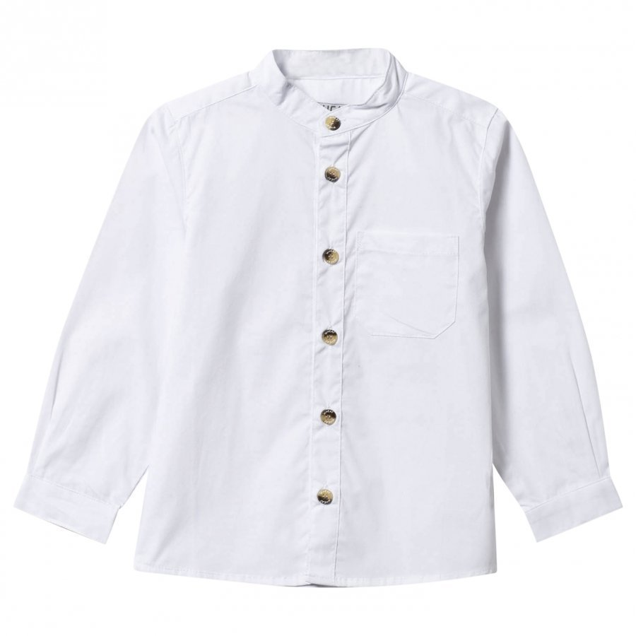 Wheat Shirt Pocket White Kauluspaita