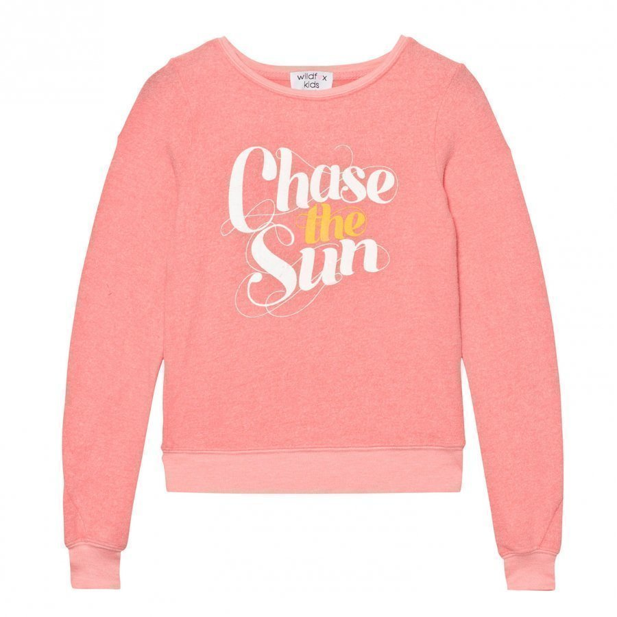 Wildfox Peach Chase The Sun Print Baggy Beach Jumper Paita