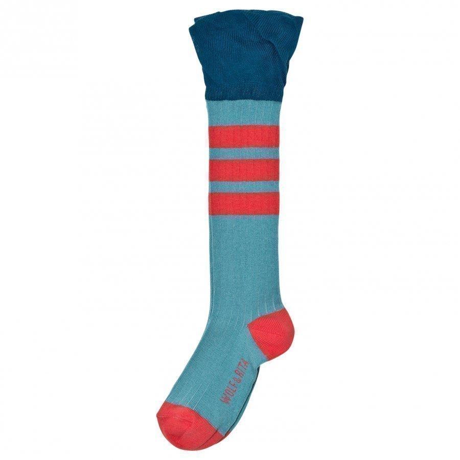 Wolf & Rita Frill Socks Blue Sukat