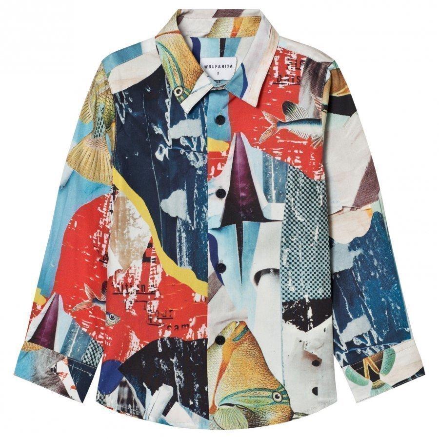 Wolf & Rita Roberto Shirt Shimmering Blues Kauluspaita