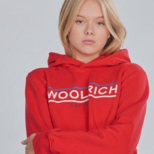 Woolrich Flag Hoodie Huppari Punainen