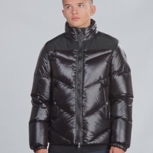 Woolrich Logo Arctic Jacket Takki Musta