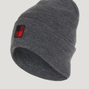Woolrich Slouchy Beanie Hat Hattu Harmaa