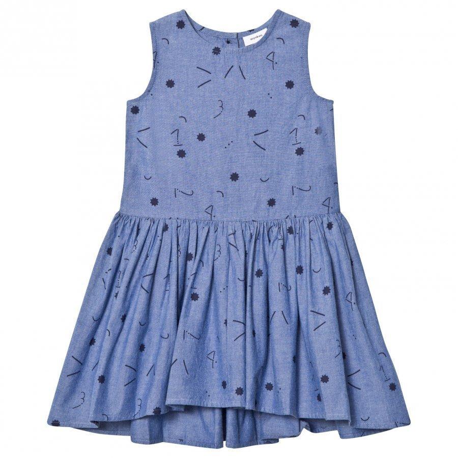 Wynken Chambray 1234 Star Print Dress Mekko
