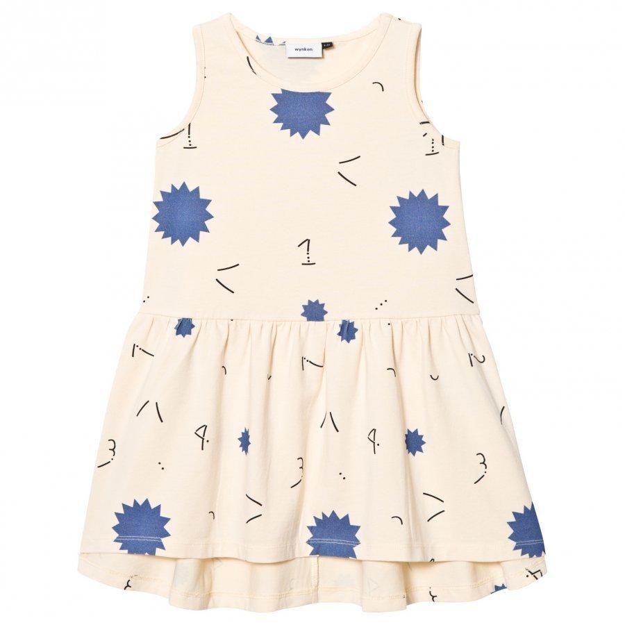 Wynken Cream 1234 Star Print Jersey Dress Mekko