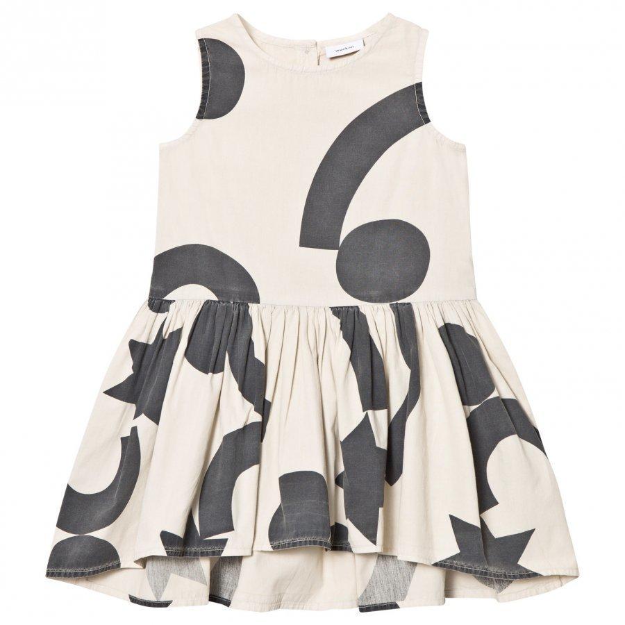 Wynken Cream And Black Shapes Print Dress Mekko