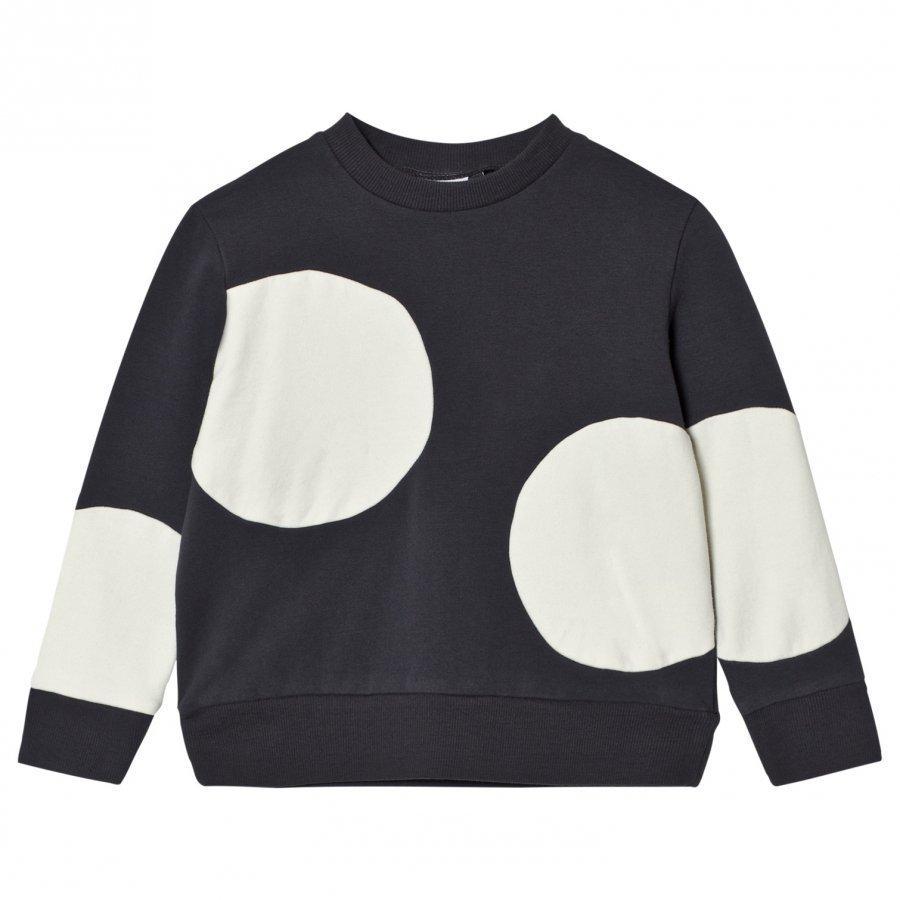 Wynken Cream And Charcoal Spot Sweatshirt Oloasun Paita