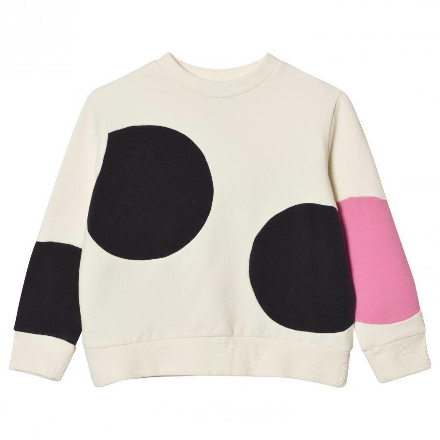 Wynken Cream And Pink Spot Sweatshirt Oloasun Paita