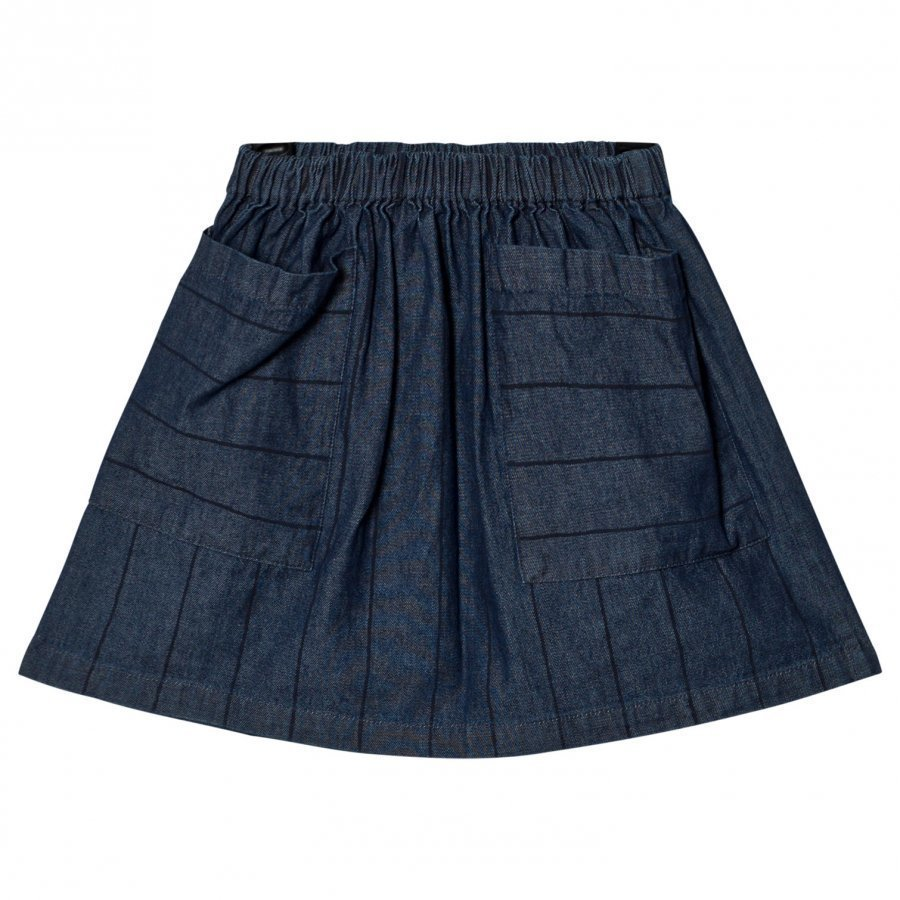 Wynken Denim Stripe Skirt Lyhyt Hame
