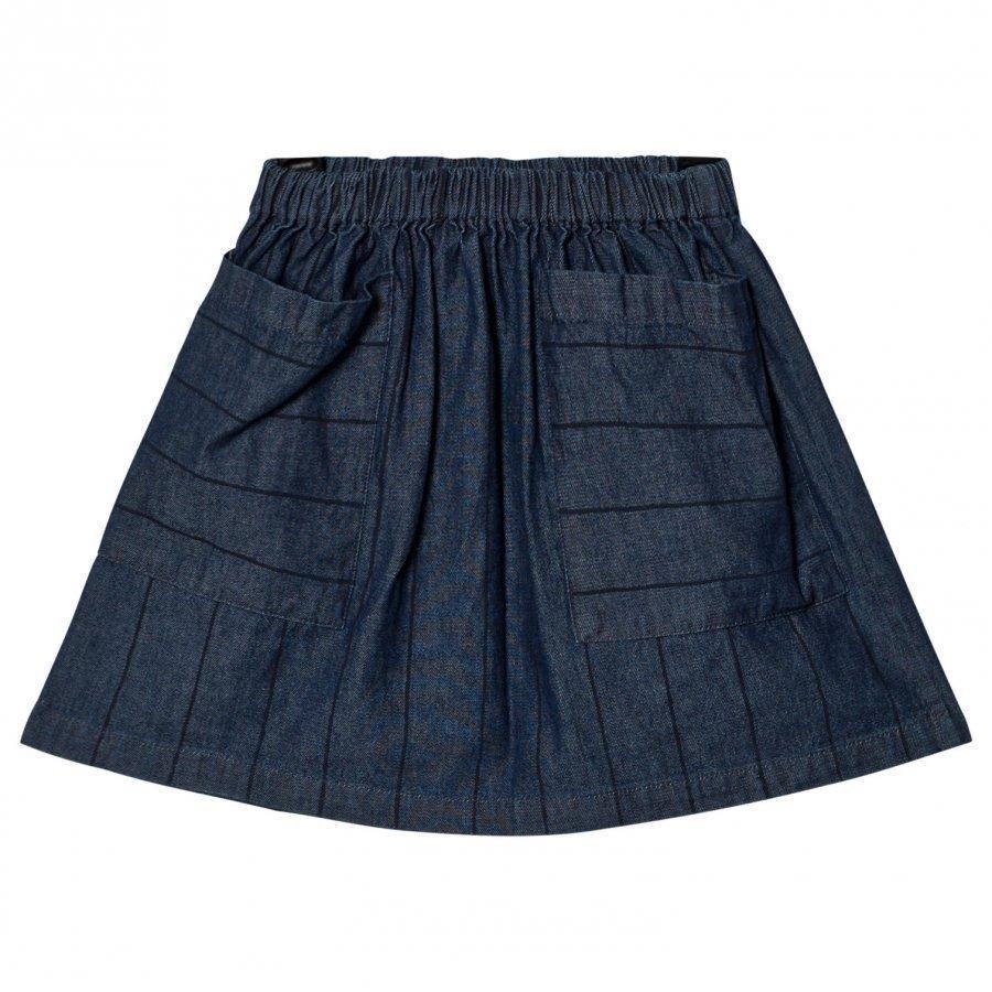 Wynken Denim Stripe Skirt Lyhyt Hame